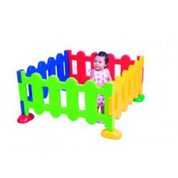 Valla de guarderia amaya set de 4 modulos 104x53x5 cm con bases