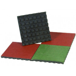 Baldosa amaya de caucho prensado set de 4 unidades 50x50x4 cm