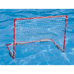 Porteria amaya de waterpolo flotante 90x70x60 cm incluye red balon botellas