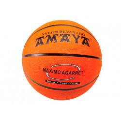 Balon amaya de basket caucho naranja n 6
