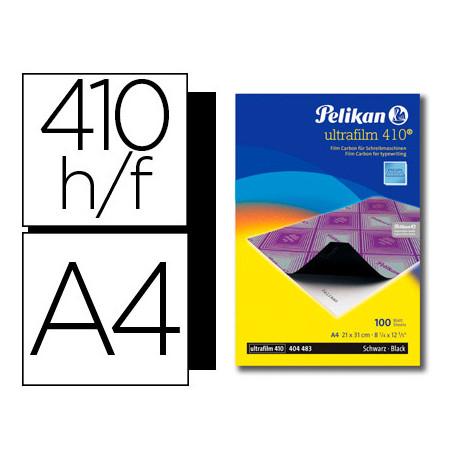 Papel carbon pelikan negro ultrafilm 410 tamaño a4 caja 100 unidades