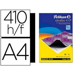 Papel carbon pelikan negro ultrafilm 410 tamaño a4 caja 10 hojas