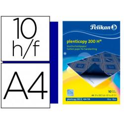 Papel carbon pelikan azul plenticopy tamaño a4 caja 10 hojas