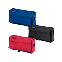 Bolso escolar herlitz portatodo rectangular con 2 bolsillos poliester 210x5
