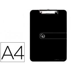 Portanotas herlitz con pinza din a4 negro