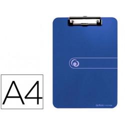 Portanotas herlitz con pinza din a4 azul