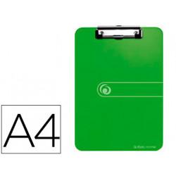 Portanotas herlitz con pinza din a4 verde