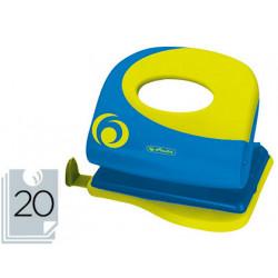 Taladradora herlitz ergonomica verde limon abertura 2 mm capacidad 20 hojas