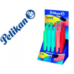 Pluma pelikan twist colores surtidos expositor de 15 unidades
