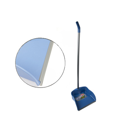 Recogedor con perfil de goma 23 cm con palo