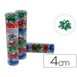 Lazos liderpapel fantasia pequeño colores metalizados surtidos tubo 12