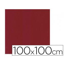 Mantel de papel burdeos en hojas 100x100 cm caja de 100 unidades