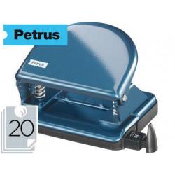 Taladrador petrus 52 azul perla capacidad 20 hojas