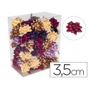 Lazos fantasia adhesivos 35cm diametro colores pasteles caja de 75 unidade