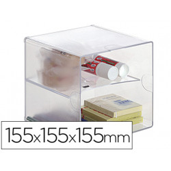 Archicubo archivo 2000 con 2 separadores organizador modular plastico 155x1