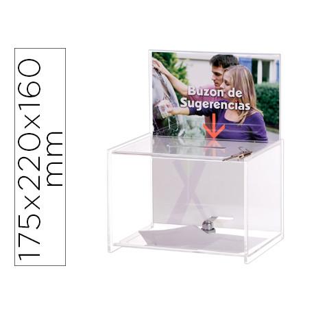 Buzon de sugerencias archivo 2000 con llave de poliestireno transparente 17