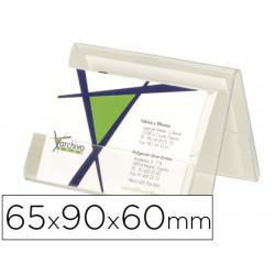 Portatarjeta de visita de sobremesa archivo 2000 en plastico transperente 6