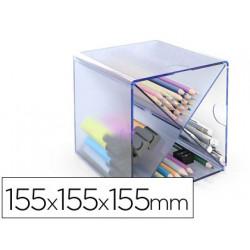 Archicubo archivo 2000 aspa organizador modular plastico azul transparente