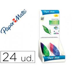 Corrector liquid paper cinta dryline 5 mm x 85 mt expositor de 24 unidades