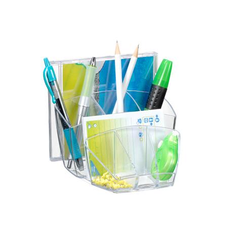 Organizador sobremesa cep con 8 compartimentos plastico transparente