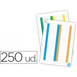 Tira de papel para visores pack de 250 etiquetas