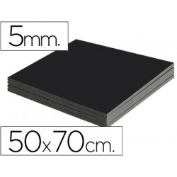Carton pluma liderpapel negro doble cara 50x70 cm espesor 5 mm