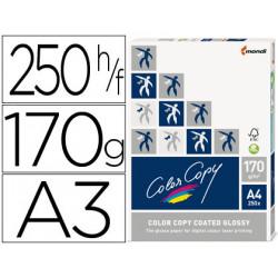 Papel fotocopiadora color copy glossy din a3 170 gramos paquete de 250 hoja