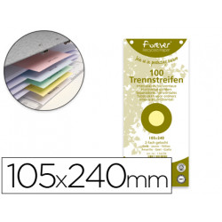 Separador exacompta cartulina reciclada juego de 100 separadores 105x240 co