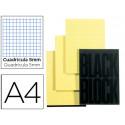 Bloc notas exacompta cuadro 5mm a4 70 hojas en color amarillo