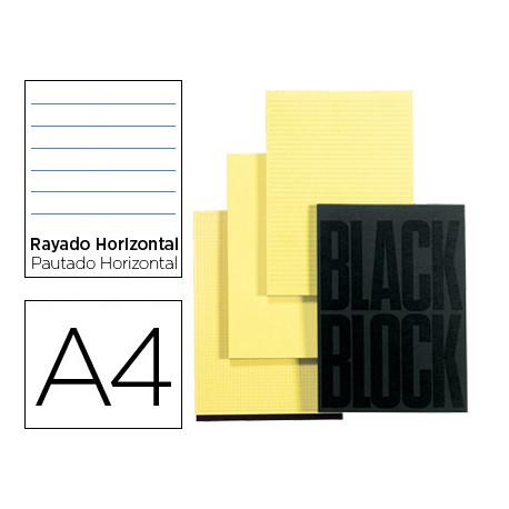Bloc notas exacompta horizontal a4 70 hojas en color amarillo