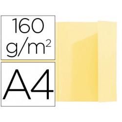 Subcarpeta exacompta din a4 amarillo 160g/m2 con solapa interior
