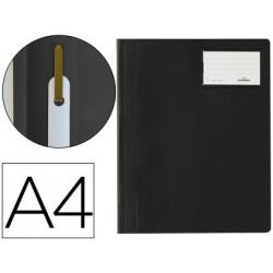 Carpeta duraplus din a4 con fastener y ventanilla para tarjeta color negro