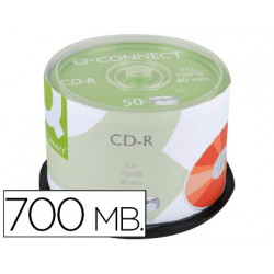 Cdr qconnect con superficie 100% imprimible para inkjet capacidad 700mb d