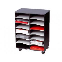 Modulo fastpaperflow con 14 casillas y ruedas pivotantes color negro 720x5