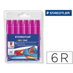 Rotulador staedtler color jumbo trazo 3 mm blister unicolor rosa