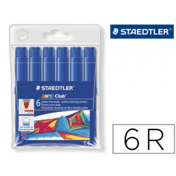 Rotulador staedtler color jumbo trazo 3 mm blister unicolor azul