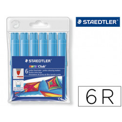Rotulador staedtler color jumbo trazo 3 mm blister unicolor turquesa