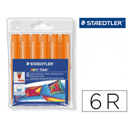 Rotulador staedtler color jumbo trazo 3 mm blister unicolor naranja