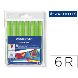 Rotulador staedtler color jumbo trazo 3 mm blister unicolor verde oliva