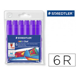 Rotulador staedtler color jumbo trazo 3 mm blister unicolor lila