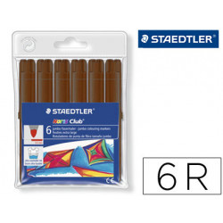 Rotulador staedtler color jumbo trazo 3 mm blister unicolor marron