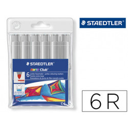 Rotulador staedtler color jumbo trazo 3 mm blister unicolor gris