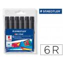 Rotulador staedtler color jumbo trazo 3 mm cajas unicolor negro