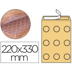 Sobre burbujas crema qconnect f/3 220 x 330 mm caja de 50