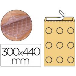 Sobre burbujas crema qconnect j/6 300 x 440 mm caja de 50 un