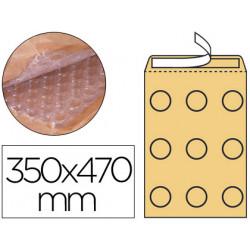 Sobre burbujas crema qconnect k/7 350 x 470 mm caja de 50
