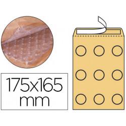 Sobre burbujas crema qconnect cd 175 x 165 mm caja de 100