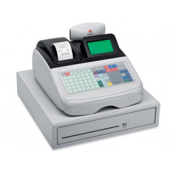Registradora olivetti ecr 8220 s cajon grande caja profesional teclado plan