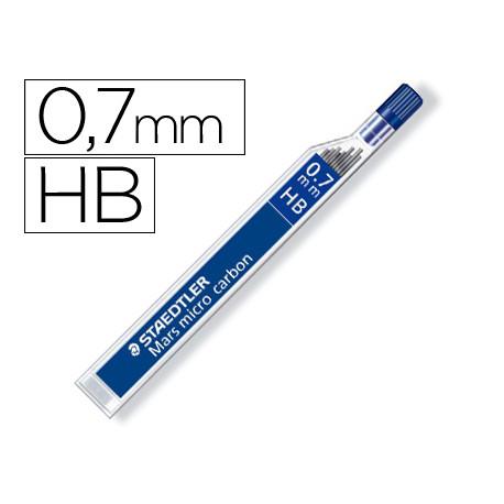 Minas staedtler mars micro grafito 07 mm hb tubo con 12 minas