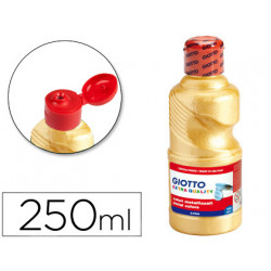Tempera liquida giotto escolar 250 ml metalizada oro